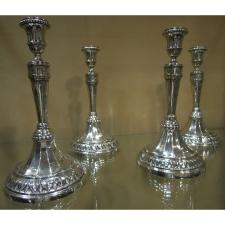 Quatre candélabres en argent, Pérouse XVIIIème