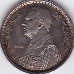 20 Francs Probe Monaco 1945 Silber