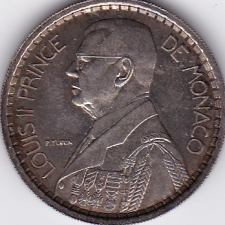 20 Francs Pattern coin Monaco 1945 Silver