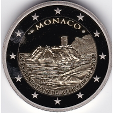 2 Euro commemorative coin Monaco 2015 Proof