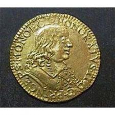 Gold Pistole under Honoré II of Monaco